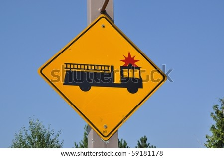 Fire engine sign