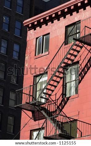 Fire Escape, Buildings in New York City