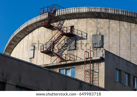 Fire Escape From The Circus Building Outdoors #649983718