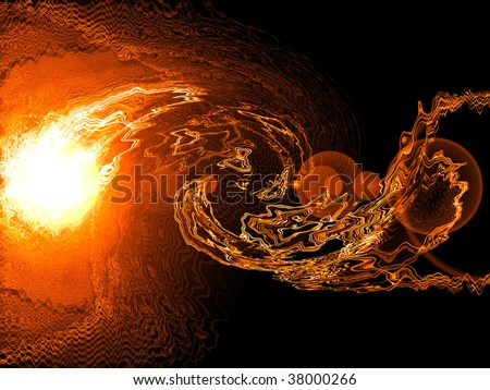 fire explosion star background