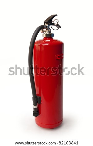 fire extinguisher. clipping path included