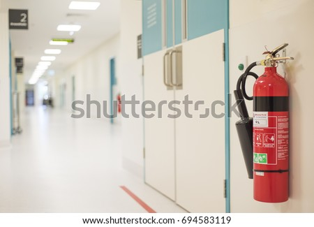 fire extinguisher in the...