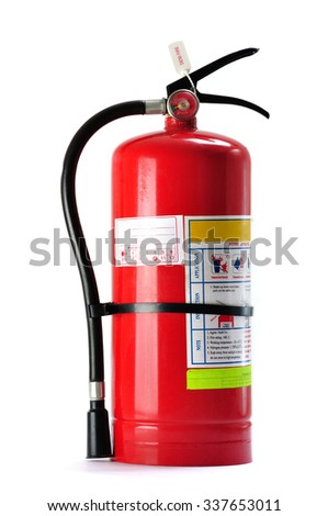 fire extinguisher isolated on...