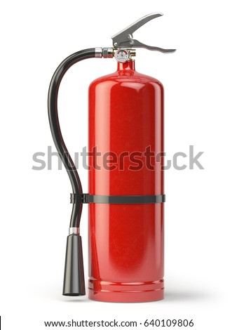 Fire extinguisher isolated on white background. 3d illustration
