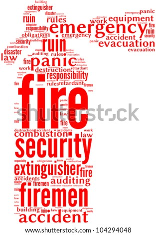 fire extinguisher tag cloud pictogram