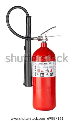 Fire extinguisher to protect your property from fire the image isolated