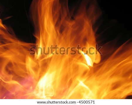 Fire flame - stock photo