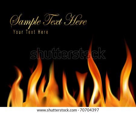 Fire flame background. Raster version of vector. .