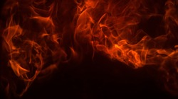 Fire flame background texture. Blaze flames for banner. Burning concept