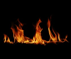 Fire flames black background