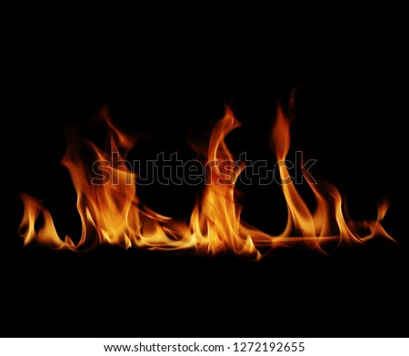 Fire flames black background #1272192655