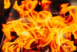 fire flames. blurred background image.
