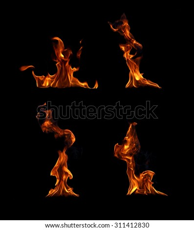 Fire flames collection. #311412830