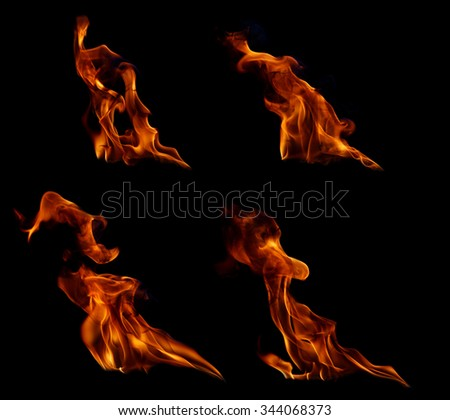 Fire flames collection. #344068373