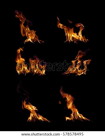 Fire flames collection. #578578495