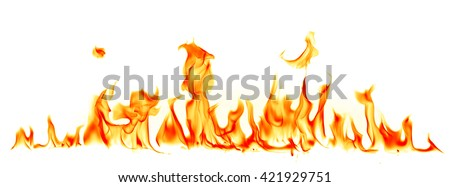 Fire flames isolated on white background Foto d'archivio ©
