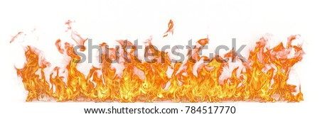 Fire flames isolated on white background #784517770