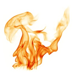 Fire flames white background