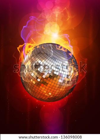 Fire Flaming Disco Ball Stock Photo 136098008 Shutterstock