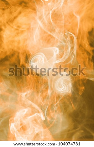 Fire flower, flame and smoke background