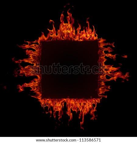 Fire frame - stock photo