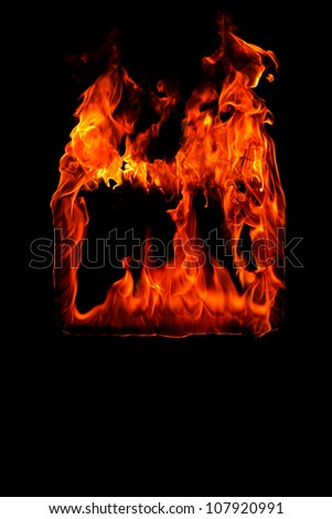 Fire frame in black background