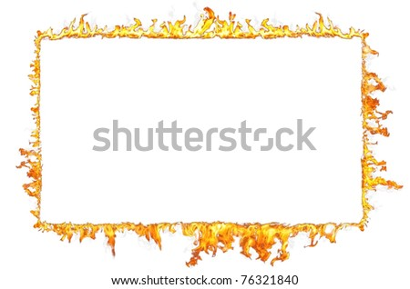 fire frame isolated on white background
