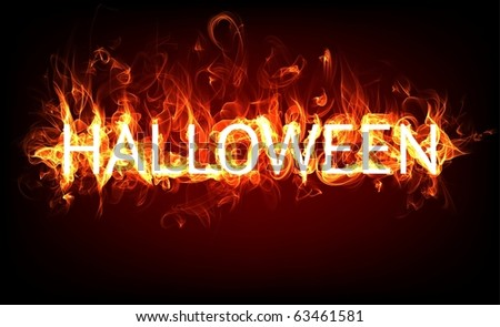 Fire Halloween for horror flame holiday design