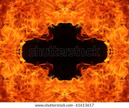 FIre hole with cross shape