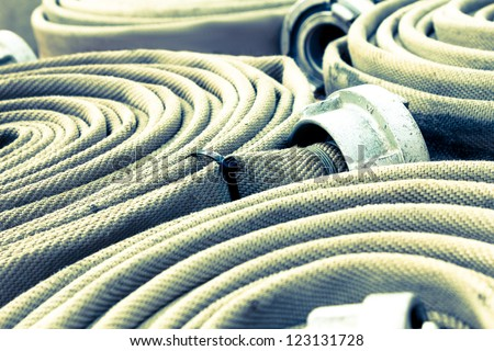 fire hoses background