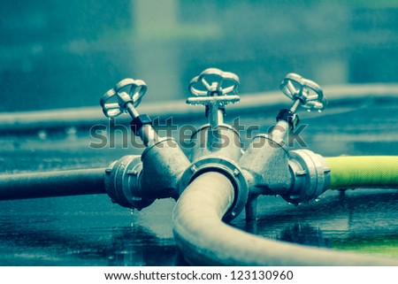 fire hoses in extinguishing water