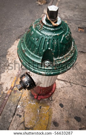 Fire hydrant in Little Italy district, Manhattan, New York City