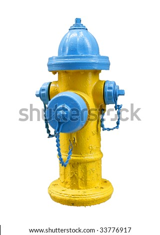 fire hydrant isolated on white