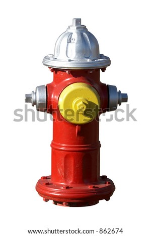 Fire hydrant that has been isolated
