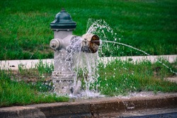 Fire Hydrant Water on Street