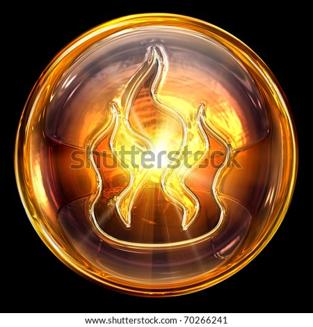 fire icon fire, isolated on black background