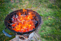 Fire in a barbecue party