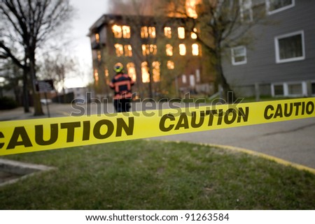 Fire in Building Saskatchewan