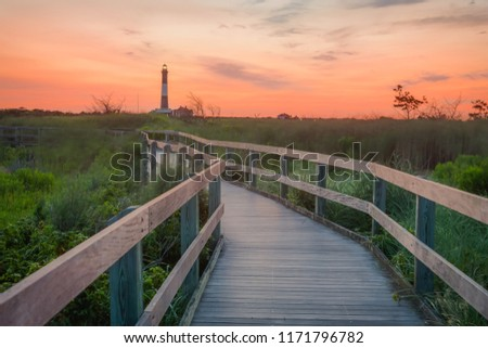 Fire Island Lighthouse at Sunrise Long Island New York #1171796782