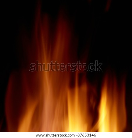 fire isolated on the black background