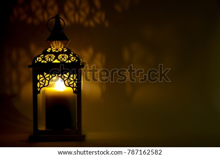 fire lantern in whte background with lights and shadow #787162582