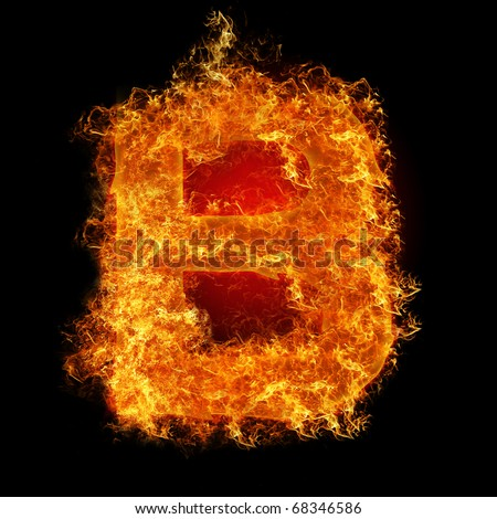 Fire Letter B On A Black Background Stock Photo 68346586 ... Letter B Fire