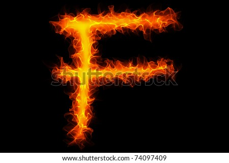 Fire Letter F Graffiti Stock Photo 74097409 : Shutterstock
