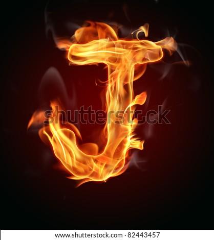 """J Logo Fire Fire Letter """"J&qu..."""