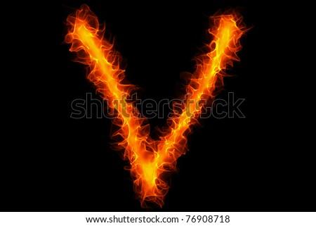 Fire Letter V Graffiti Stock Photo 76908718 : Shutterstock