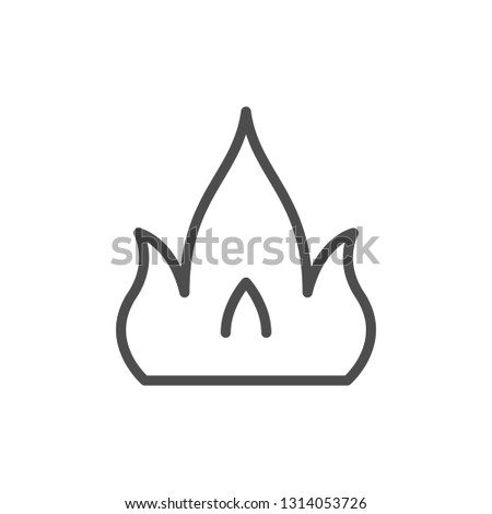 Fire line icon isolated on white