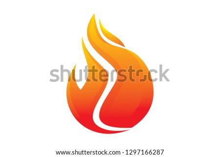 fire logo template #1297166287