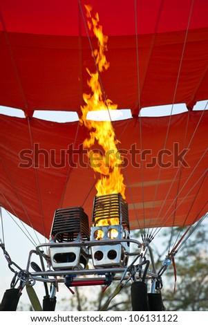 Fire of air balloon burner