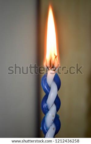 Fire of havdalah Stok fotoğraf ©
