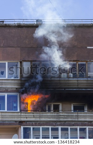 fire on balcony